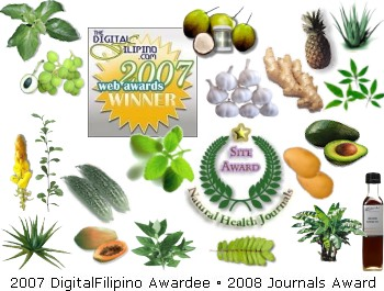 Philippine Medicinal Plants and Herbs | Web Awards Winner | Natural Health Journal Editor's Award Recipient